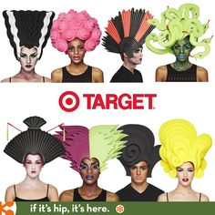 If It's Hip, It's Here: Let The Fun Go To Your Head This Halloween. 8 Big Wigs For Target by Chris March.