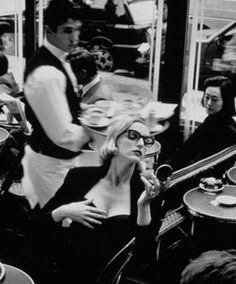 Helmut Newton -  Lavazza coffee 1993  café de Flore, paris  www.fashion.net