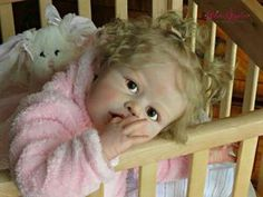 Violet - Toddler by Jannie de Lange PLUS CLOTH BODY - Online Store - City of Reborn Angels Supplier of Reborn Doll Kits and Supplies