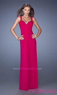 Long Sweetheart Open Back Formal Gown at PromGirl.com