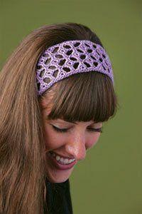 Crochet lace is the perfect technique for crochet headbands. Ella's Headband - Media - Crochet Me
