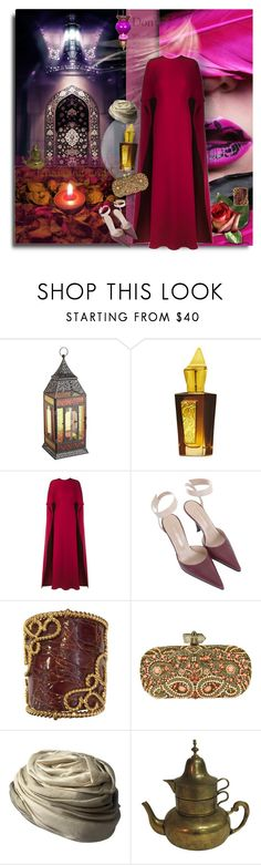 """""""Oriental Dreams..."""" by wildnature ❤ liked on Polyvore featuring Pier 1 Imports, Xerjoff, Felix, Valentino, Sergio Rossi, Loewe, Marchesa and Christian Dior"""