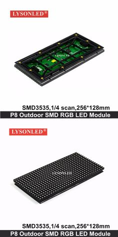 LYSONLED 40pc/lot P8 Outdoor SMD3535 Full Color Led Display Module 256*128mm , 1/4 Scan P8 SMD 3-IN-1 RGB Led Module Outdoor
