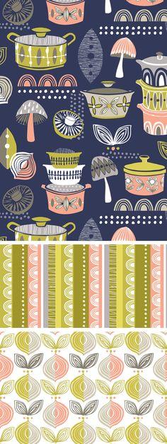 wendy kendall designs – freelance surface pattern designer » indigo kitchen