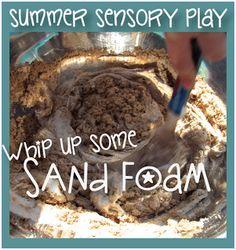 Creative Playhouse: Summer Sensory Play - Sand Foam