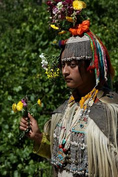 India - Traditional dances and culture of the Brokpa people, a tribal community in the Dha-Hanu valley of Ladakh.