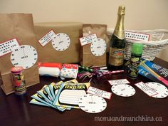 New Years Eve Activities for Kids - Basket
