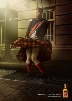 """Funny advertisement for """"surprisingly mild"""" scotch whisky"""
