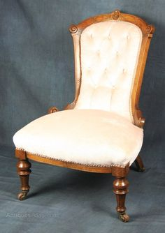 Victorian Walnut Nursing Chair   Antiques Atlas