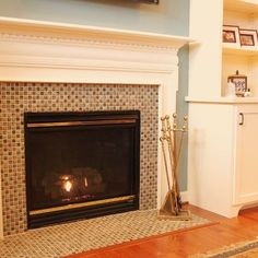 traditional living tile fireplace surround design ideas pictures remodel and decor - Fireplace Surround Design Ideas