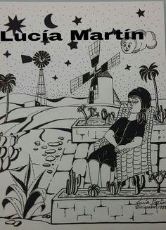 """Ilustración de Lucía Martín para el cuento """"Entre sueños santos y ardillas"""" de J.Nieto."""