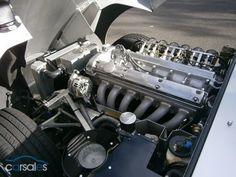 1967 Jaguar E Type Series I. Very nice engine bay detailing.