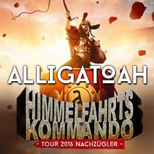 Alligatoah: Himmelfahrtskommando - Tour 2016 Nachzügler // 14.10.2016 - 22.10.2016  // 14.10.2016 20:00 MANNHEIM/Maimarkthalle // 15.10.2016 20:00 DÜSSELDORF/Mitsubishi Electric HALLE // 16.10.2016 20:00 ROSTOCK/StadtHalle Rostock // 22.10.2016 20:00 LEIPZIG/Haus Auensee