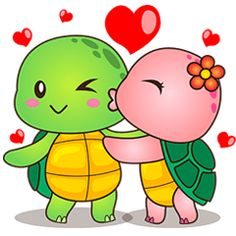 Pura the funny turtle is in love. This sticker pack will make your chat more amazing with your loved ones! Everyday is valentine! Cute Turtle Drawings, Baby Animal Drawings, Cute Disney Drawings, Cute Kawaii Drawings, Art Drawings For Kids, Drawing For Kids, Easy Drawings, Art For Kids, Cartoon Pics