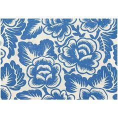 Rosario Linen Fabric Cobalt | Designers Guild / Havana Collection Kitchen Fabric, Designers Guild, Soft Furnishings, Havana, Linen Fabric, Cobalt, Floral Design, Upholstery, Tapestry