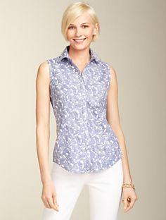 111d1877567de6 Talbots - Wrinkle-Resistant Paisley Shirt