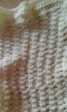 Close up of Narcissus Tunisian crochet stitch from my wrap.