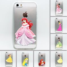 2015 Phone Case suitable for 5 or 5S anti-fouling  TPU transparent Fairy tale girl phone shell  various colors soft case