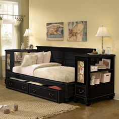 Lovely Full Size Daybed with Trundle Bed Check more at http://dust-war.com/full-size-daybed-with-trundle-bed/