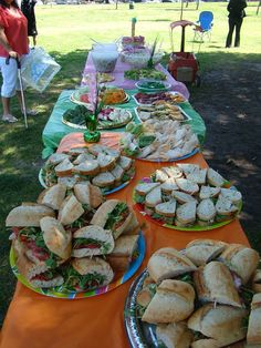 First Birthday Catering At The Park Small Ideas Food Simple