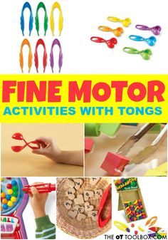 Tongs are a great tool for promoting and improving fine motor skills! Occupational therapy activities using tongs can strengthen fine motor skills!#finemotor #finemotorskills #occupationaltherapy #OTactivities