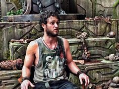 Christopher Uckermann durante as gravações do filme Pacifico em Bahía Solano…