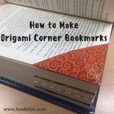 How To Make Origami Corner Bookmarks | BookRiot.com