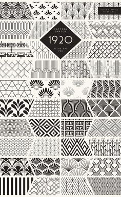 Diseños y Texturas 1920 Art Deco Seamless Patterns by The Paper Town on Creative Market you can find similar pins below. Creative Market, Moda Art Deco, Zentangle Patterns, Paper Patterns, Zentangles, Zentangle Art Ideas, Patterns To Draw, Zen Doodle Patterns, Art Patterns