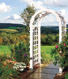 garden arbor (Shed Plans Thoughts) Arch Trellis, Diy Trellis, Wooden Arbor, Wooden Garden, Garden Archway, Garden Gates, Diy Arbour, Backyard Projects, Garden Projects