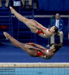 Jennifer Abel and Pamela Ware (Canada) Rio 2016 Olympics
