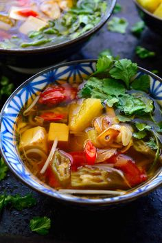 This Vietnamese sour soup recipe is ready in 15 minutes and full of delicious flavours and textures. Vegetarian and vegan friendly!