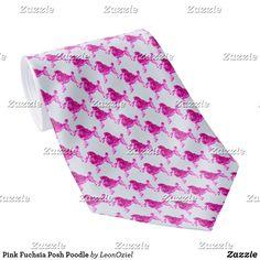 Shop Pink Fuchsia Posh Poodle Neck Tie created by LeonOziel. Custom Ties, Succulents Diy, Unique Image, Business Supplies, Etiquette, Poodle, Night Out, Pattern, Pink