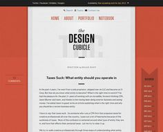 Typography based web design