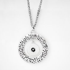 """1 Circle Necklace - 20"""" FITS 18MM Candy Snap Charm Jewelry Silver kb0296 CJ0182"""