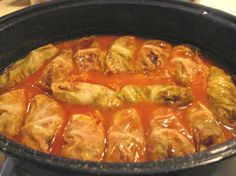 Yummy stuffed cabbage rolls, made with Campbell's Tomato soup! This recipe was given to me by my Polish/Slovak mother-in-law.