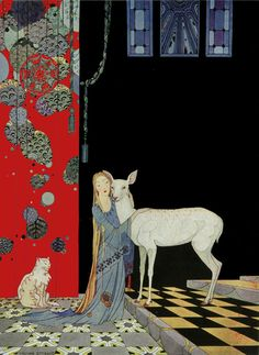 Virginia Frances Sterrett - Blondine Threw Her Arms Around Him. from Old French Fairy Tales