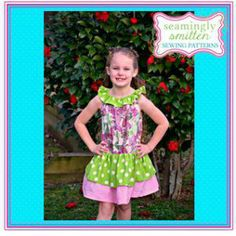 The All Ruffled Up Dress pattern for Girls (6 months - 10 yrs) $5
