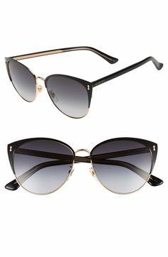 f7c1f98933e Gucci 58mm Cat Eye Sunglasses