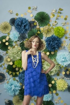 royal blue and green: for a wedding.. from BHLDN