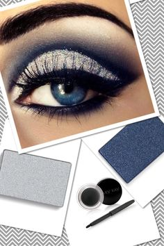 Get this hot look using MK Mineral Eye Colors Sterling & Midnight Blue along with new MK Gel Eyeliner! www.facebook.com/brookeashleyramsey #MaryKay #Makeup #Eyes