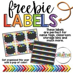 Editable Labels Editable classroom labels are great for name tags, schedule cards, classroom storage labels, mailbox labels and much more. This EDITABLE label freebie pack includes two different size labels that fit the reusable label pouches found at Target.