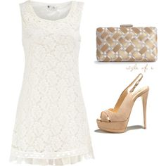 I love the neutrals for fashion and decorating.  White Lace perfect for that summer gathering with those neutral shoes already in your closet.  Add a clutch and you're ready to go.