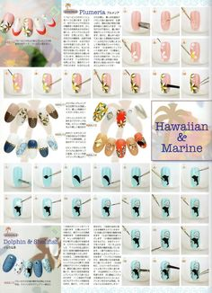 Stunning Hawaiian And Marine Nail Art Design Tutorial Themes With Gorgeous…