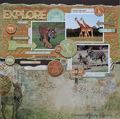 All About Scrapbooks Australia: Basic Grey Tea Garden & Kaisercraft Into The Wild - by Linda Eggleton