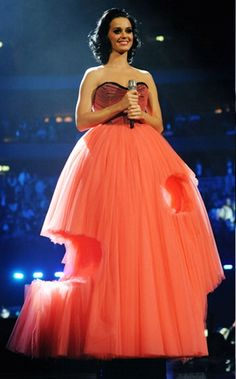 Katy Perry wearing iconic dress by Viktor & Rolf