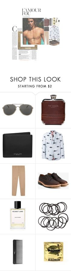 """""""WAYWARD UNIVERSITY ; CHARLES"""" by lovelylosers ❤ liked on Polyvore featuring Dries Van Noten, Ted Baker, Michael Kors, Thom Browne, Gucci, Alden, Helmut Lang, H&M and Sephora Collection"""