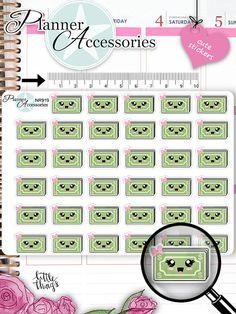 Kawaii PayDay Stickers Dollar Stickers Pay von EmelysPlannerShop