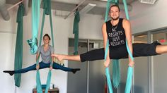 """33 Likes, 3 Comments - @whittydancer on Instagram: """"Iron crossing ' and high kickin' Day 2 AIR Aerial Yoga Training is well on its way @airfitnow"""""""
