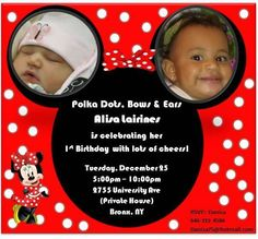 "Photo 16 of 42: Minnie mouse! / Birthday ""Alisa L. 1st bday"" 