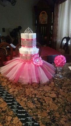 Diaper cake with tutu